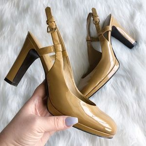 Ralph Lauren • Tan Career Style Pumps